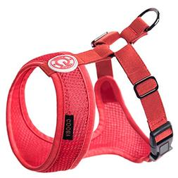 Gooby 04108-RED-XL Freedom Harness II Red Extra Large Soft S