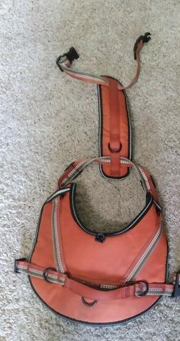 1 Top Paw Ergonomic Orange Dog Harness Medium Comfort + Refl