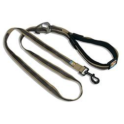 Kurgo 6-in-1 Quantum Dog Leash, Khaki & Charcoal - Lifetime