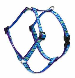 """LupinePet Originals 1/2"""" Sea Glass 12-20"""" Roman Harness for"""