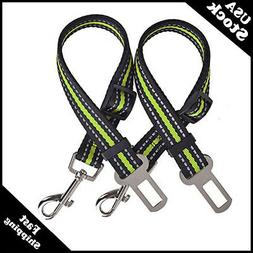 PUPTECK 2 Pack Adjustable Dog Seat Belts  Pet Reflective Saf