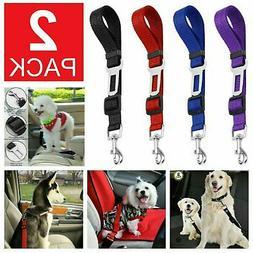 2 Pack Cat Dog Pet Safety Seat belt Clip for Car Vehicle Adj