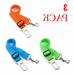 3 X Colorful Dog Pet Safety Adjustable Car Seat Belt Harness