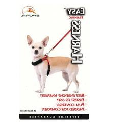 32561 Sporn Black Xs Easy Training Dog Harness Teacup Breeds