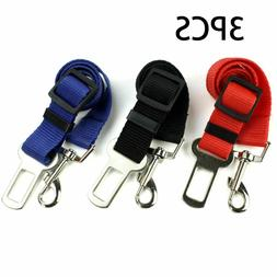3X Dog Pet Safety Adjustable Car Seat Belt Harness Leash Tra