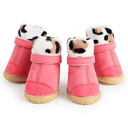 365Cor 5 Size Small Dog Shoes Winter Puppy Boots Warm Anti S