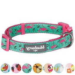 Blueberry Pet 7 Patterns Pink Flamingo on Light Emerald Dog