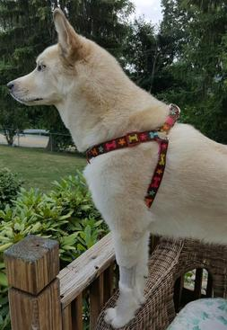 Dog Harness with Colorful Bones and Flower Designs From Petm
