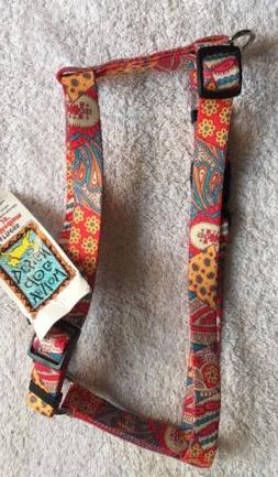 """Flowers and Paisleys Small/Medium Roman Harness 14"""" - 20"""" by"""