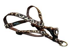 NEW Sassy Dog Wear 8 16 Inch Natural Leopard Dog Harness X S