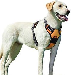 No Pull Dog Harness With Front Clip,Walking Pet 2 Metal Ring