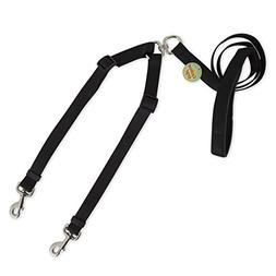 "Petmate Take Two Dog Leash 1"" wide Comfort Grip Adjustable L"