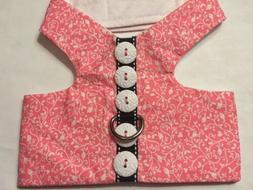 Pink Bird Spiral Harness Vest Dog - M