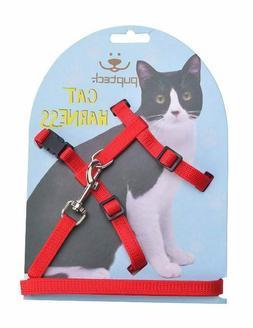 PUPTECK Adjustable Cat Dog Puppy Kitten Harness Nylon Strap