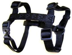 "Hamilton Adjustable Comfort Nylon Dog Harness, Black, 3/8"" x"