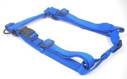 "Hamilton Adjustable Comfort Nylon Dog Harness, Blue, 1"" x 30"