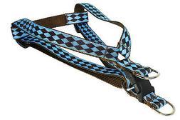Sassy Dog Wear Adjustable Dog Harness - Blue / Brown Jester