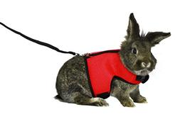 ASOCEA Adjustable Soft Harness with Stretchy Leash for Bunny