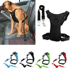 Mesh Car Dog Harness Seat Belt Clip Leash Soft Small to Larg
