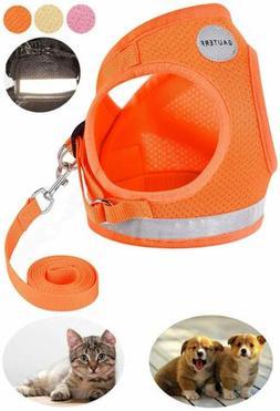 AUTERF Dog & Cat Universal Harness Leash Set Escape Proof Ca