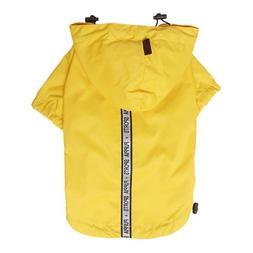 Puppia Authentic Base Jumper Raincoat, Medium, Yellow
