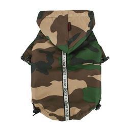 Puppia Authentic Base Jumper Raincoat, 4X-Large, Camo