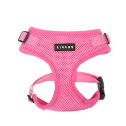 Authentic Puppia RiteFit Harness with Adjustable Neck, Pink,