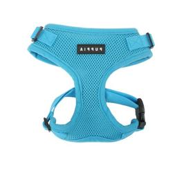 Authentic Puppia RiteFit Harness with Adjustable Neck, Sky B
