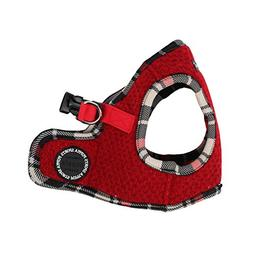 Puppia Authentic Smurf Vest Harness B, Large, Red