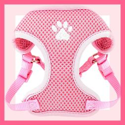Top Paw Baby Pink Padded Comfort Mesh Dog Harness with white