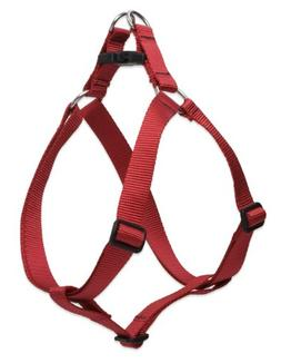 "LupinePet Basics 3/4"" Red 20-30"" Step In Harness for Medium"