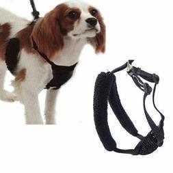"Black Anti Pull Dog Harness Medium Fits Necks 10""-16"" Stops"