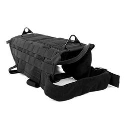 black l tactical military dog