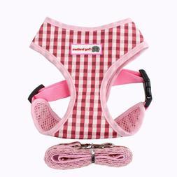 breathable plaid pet chest straps teddy vest