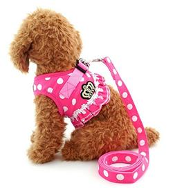 Brother cat Dog Puppy Small Dog/Cat Dots Vest Harness Leash
