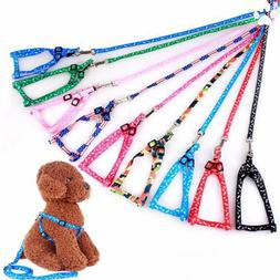 Cat Puppy Dog Harness and Leash Lead Set Traction Kit Adjust