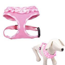 EXPAWLORER Checkered Frills Fashion Pet Dog Cat Harness Adju