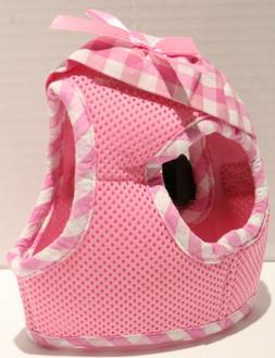 PUPTECK Checkered Frills Soft Mesh Dog Cat Vest Harness - Pi
