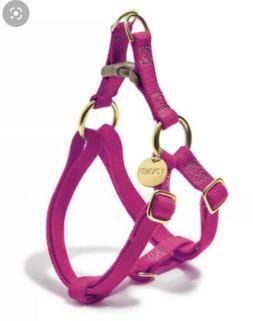 Found My Animal Cherry  Pink Cotton Cat & Dog Harness Sizes