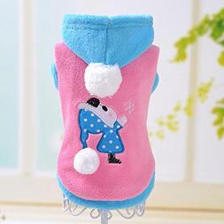 365Cor Christmas Pet Small Dog Clothes Winter Warm Dog Coat