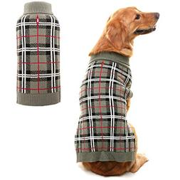 PUPTECK Classic Plaid Style Dog Sweater - Puppy Festive Wint