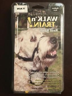 COASTAL DOG WALK 'N TRAIN NO PULL HEAD HALTER Medium TAN HOL