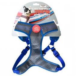Comfort Soft Sport Wrap Adjustable Dog Harness , Blue)