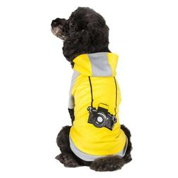 Blueberry Pet Cotton Dog Camera Hoodie in Grey & Yellow for