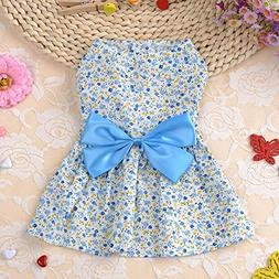 cute dog dress summer soft