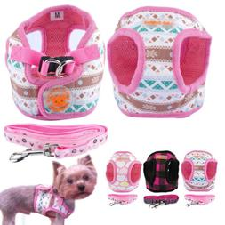 Cute Small Dog Harness and Leash set Soft Vest for Chihuahua