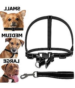 Dog Accessories Harness Collar & Leash Heavy Duty Adjustable