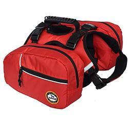 2 Removable Waterproof Large Dog Backpack Pet Saddlebag Adju