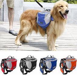 Copatchy Dog Backpack Harness Adjustable Saddlebag Style Dog