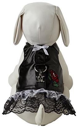 Dog Boutique Harness in Biker Dress Black Size-See Chart Bel